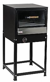 Forno industrial 150 litros à gas com tampa de vidro e cavalete - ideal para paes,   bolos,   salgados,   etc...