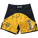 Short mma bermuda submission calcao jiu jitsu preto amarelo
