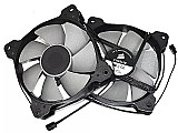 Par de fan cooler ventoinha corsair 120mm 12cm duas