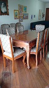 Mesa de jantar - 6 lugares - madeira macica - entalhada à mao