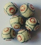 Bola oficial de feltro para jogo de botao
