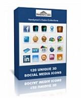 120 ícones de redes sociais