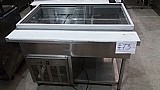Buffet condicionador refrigerado de alimentos refrigerados