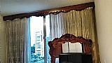 4 cortineiros em madeira macica entalhados à mao