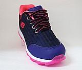 Tenis infantil feminino botinho azul marinho e rosa