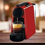 Cafeteira essenza mini vermelho rubi 110v 14 capsulas gratis