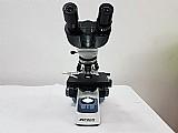 Microscópio binocular 1600 vezes led bateria biofocus