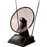 Antena tv interna uhf / vhf / hdtv mini parabolica mbtech