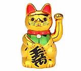 Gato da sorte maneki neko dourado japao japones china