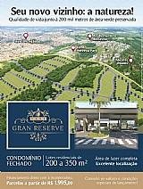 Condominio gran reserve indaiatuba - lotes de 200 a 350 m²