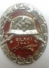 Medalha comemorativa - atentado contra hitler em 20/07/1944