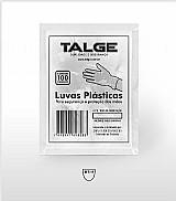 Luva plastica descartavel - talge