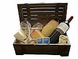 Cesta de queijos e vinhos no jardim joao xxiii-frete gratis
