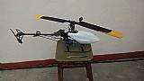 Helicoptero eletrico t- rex 450 na caixa com controle