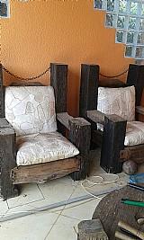 Sofa madeira rustico dormente -01 lugar