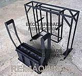 Forma manual ergonômica de bloco de concreto