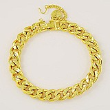 Corrente folhada a ouro 18k curb cuban chain unissex