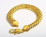Ligacao moda pulseira de ouro 18k de homens