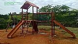 Brinquedos playground aldeota  simples  de eucalipto