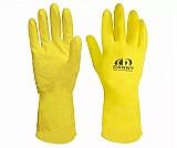 Luva latex forrada amarela limpeza varios tamanhos pc 12 pares