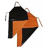 Avental de pvc laranja e preto kp1000 1, 20 x 0, 70 mts