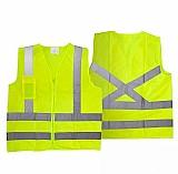 Colete seguranca blusao refletivo verde limao 1 bolso