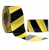 Sinalizacao zebrada amarela e preta 200 metros
