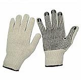 Luva pano tricotada algodao pigmentada branca pct 12 pares