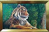 Quadro tigre siberiano - acrilico sobre tela