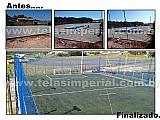 Quadra esportiva e campo instalacao completa - itapeva