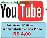 Obtenha 300 views 50 likes 5 comentarios em seu video