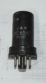 Valvula eletrônica antiga rca tipo 6sk7.- 253 -