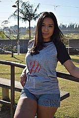 Camiseta raglan feminina