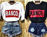 Blusas tshirts femininas frases ranco,  fofa e grossa etc