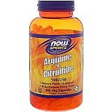 Arginina citrulina now foods 500/250 120 caps