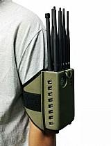 Bloqueador de celular / escutas / comunicacoes portatil 10 antenas p10 plus 5watts