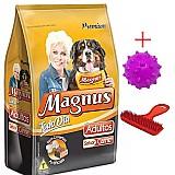 Racao magnus chips caes adultos 25kg   brinde