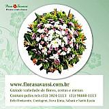 Floricultura entrega coroa de flores velorio e cemiterio em mario campos mg