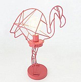 Luminaria aramada de flamingo