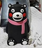 Carregador portatil power supply emoji urso rosa