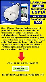 Super camera lampada 3d inteligente 360º