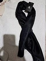 Echarpe cachecol xale de luxo preto chanel