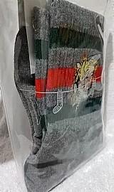 Kit meias tigre cinza/branca gucci
