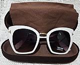 Oculos de sol armacao moderna branco tom ford