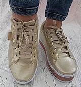 Tenis feminino couro dourado puma