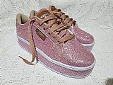 Tenis glitter puma rosa lançamento