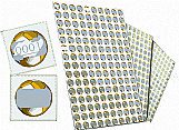 Raspadinha / cartela numerada dourada - kit. c/ 1.000 números