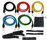Extensores elasticos funcionais com 11 elementos home gym