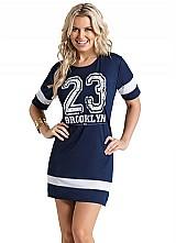 Vestido esportivo feminino curto futebol americano verao