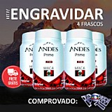 Kit para engravidar andes prime red maca peruana 4 frascos